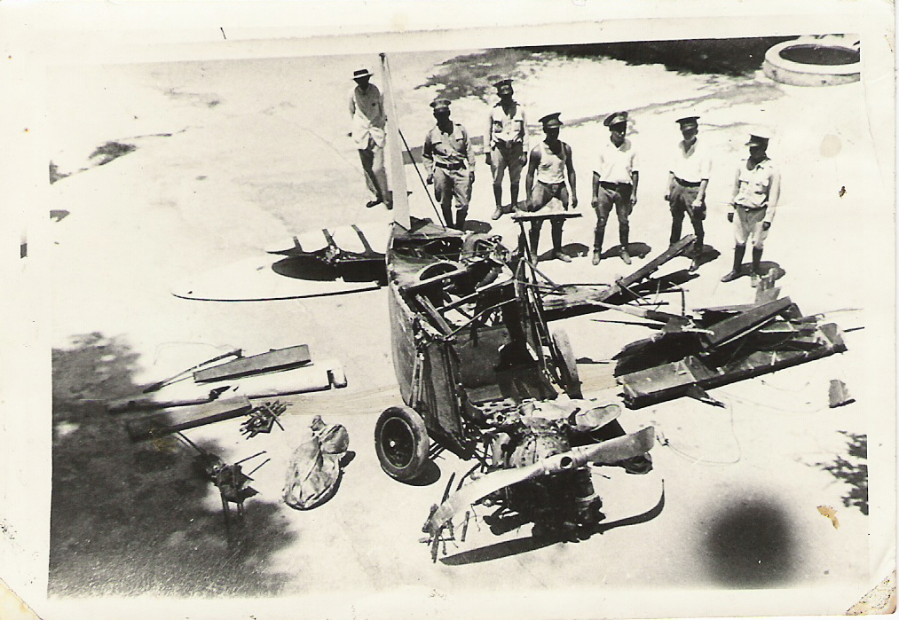 13. Restos del avión de Garibaldi enviados a la capital poco