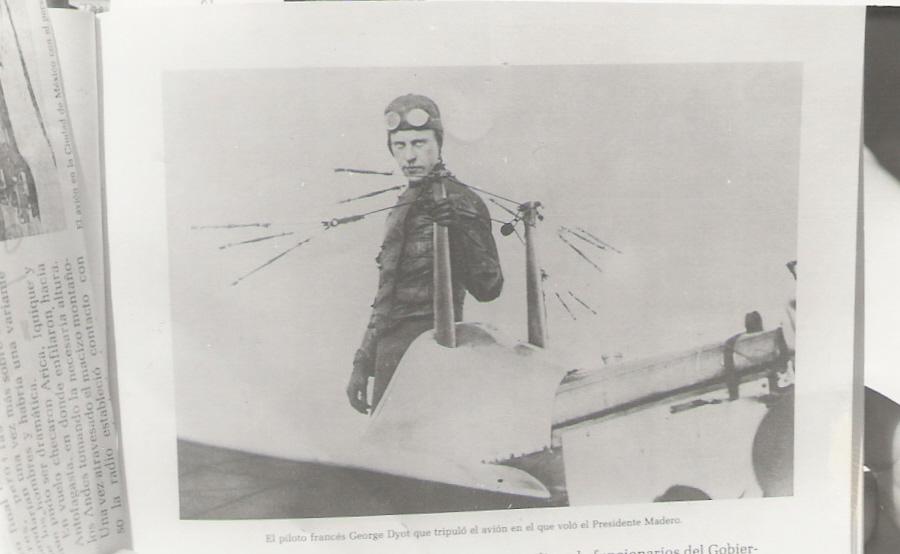 5. El piloto francés George Dyott que tripuló el avión en el