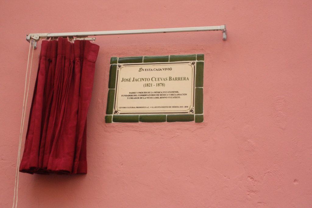 PLACA. JACINTO JOSE CUEVAS